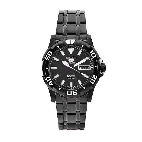 Seiko Herren-Armbanduhr XL Analog Automatik Edelstahl SNZJ41K1