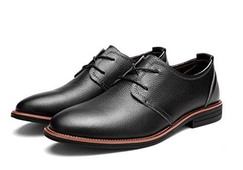 Die neue Geschäft Männer Casual Schuhe Leder Oxford Schuhe Carrefour Black
