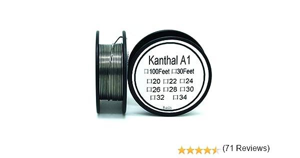 Fil de R/ésistance Kanthal A1 de Calibre 20 AWG Longueur DE 30 Pieds