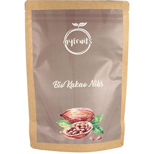myfruits Bio Kakao Nibs (Kakaonibs) - ohne Zusätze. Sanft geröstet für einen schokoladigeren Geschmack. DE-ÖKO-003. Zum Backen oder für Müsli Abgefüllt in Deutschland - finest superfood (1,8kg)