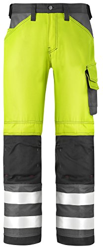 SNICKERS WORKWEAR 3333 - PANTALONES  COLOR HV GELB-MUTED BLACK  TALLA 44