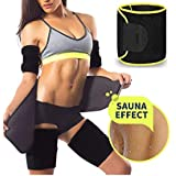 ADA Waist Trimmer Belt Slimming Neoprene Ab Belt Trainer for Faster Weight Loss, Stomach Fat Burner Wrap Tummy Control/Belly Tummy Yoga Wrap Back Exercise Body Slim Look Belt - Yellow