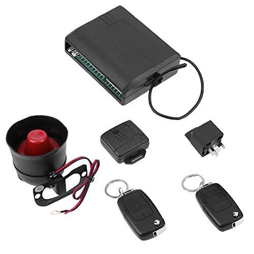 KKmoon Protection Contre le Vol Antivol Syst/ème Alarme 1-way Voiture V/éhicule S/écurit/é avec T/él/écommande 2 Sir/ène