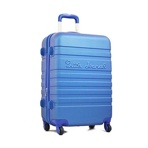 Valise taille moyenne 60 cm Bleu Little Marcel