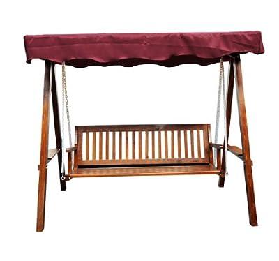 Hollywoodschaukel mit Sonnendach 3-Sitzer Gartenschaukel Schaukelbank Schaukel aus Holz