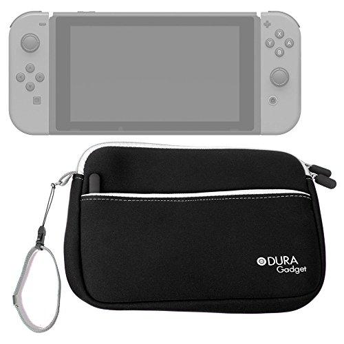 DURAGADGET Funda De Neopreno Negra para Videoconsola Nintendo Switch - con Bolsillo Exterior