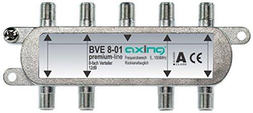 Axing BVE 8-01 BK-8 fach Signalverteiler mit abnehmbarem Montagesockel