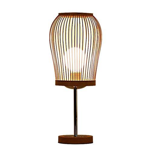 AIKE Godess4 Moderno Simple Creativo IKEA Pastoral Protección Ocular Decoración Luz de bambú Lámpara de Madera Maciza E27 Estudio Dormitorio lámpara de Noche Salón los 19 * 45CM