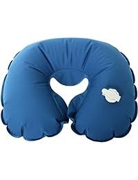 TRIXES Appui-tête Bleu Gonflable Oreiller de Voyage pour la Tête et le Cou