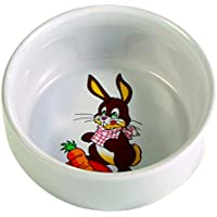 Trixie Ceramic Bowl with Motif for Rabbits, 250 ml