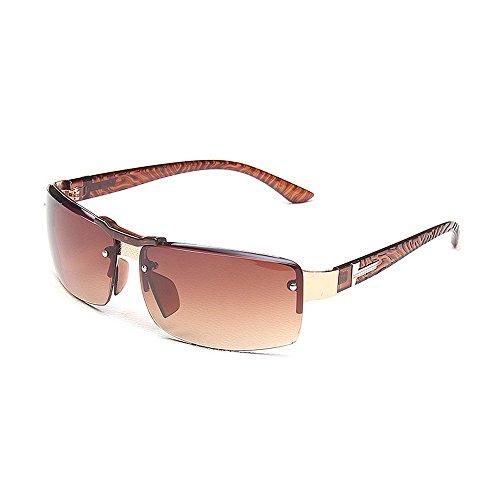 Ppy778 Aviator Sonnenbrillen Herren Damenmode 80er Jahre Retro Style Designer Shades UV400 Objektiv Unisex (Color : Brown)