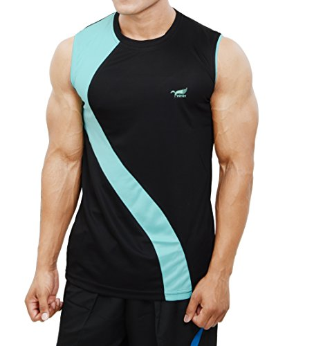 NNN Men's Polyester Sports T-Shirt (Black, L)