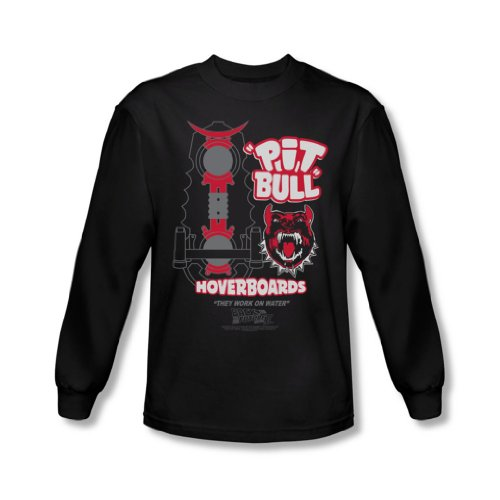 Back To The Future II - Zurück in die Zukunft II - Herren Pit Bull Langarm-Shirt In Schwarz Black