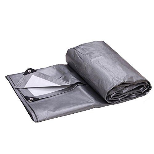 LIANGJUN Lona Alquitranada Polietileno Revestimiento Impermeable UV Protegido Toldo Lona Resistente A Las Heladas Inodoro Fácil De Doblar Espesor 0.32 Mm, 180g/m², Tamaño Personalizable ( Color : Silver+white , Tamaño : 2X3m )
