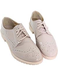 Amazon.fr   Beige - Derbies   Chaussures femme   Chaussures et Sacs d507fb56269f