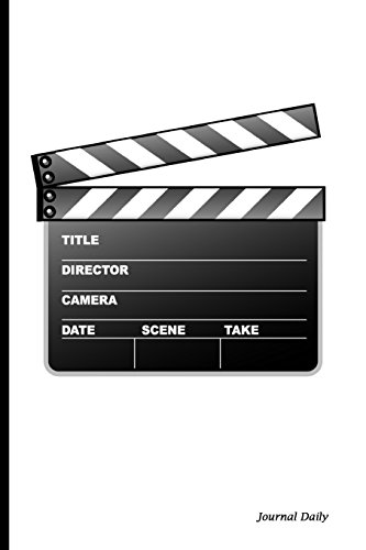 Journal Daily: Directors Clapboard,Lined Blank Journal Book, writing journal,150 Pages,6