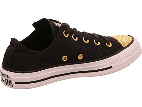 Converse - All Star Metallic Toecap, Pantofole Donna Black