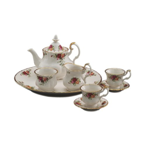 Old Country Roses Tee-set (Royal Albert Old Country Roses 9 Stück Le petite Tee-Set)