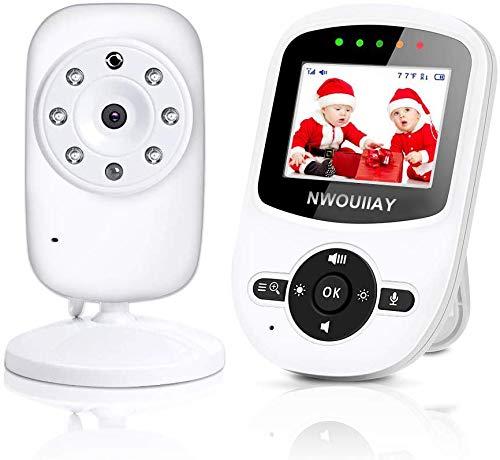 TOPERSUN Baby Monitor Bebé Monitor Inteligente Vigilabebés con LCD Cámara Visión Nocturna