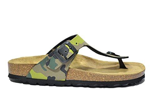 Grunland Ciabatte infradito kaki scarpe bambino ragazzo ragazza CB0406 34