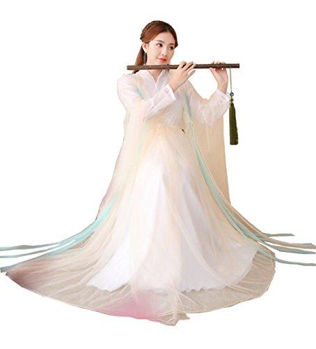 ZENGAI Bühnenperformance Pfirsich Altes Kostüm Cosplay Fee Kleidung Weiblich ( Farbe : Lotus root pink , größe : 130 )