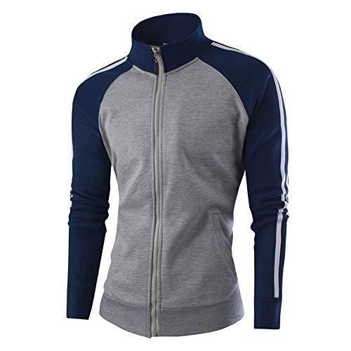 Soft Knit Langarm (Quaan Men Sport Outwear Warm Casual Zipper Jumper Gently Man Coat About Baseball Blouse Jacket Classic Retro Fashion Soft Cozy Knit Business Office Suits Sweatshirt)
