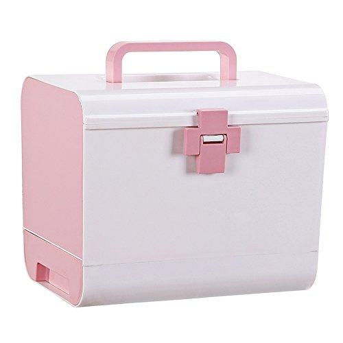 XXGI Erste-Hilfe-Box Und Lagerung Medizinische Box Und Medizin-Box Für Arzneimittel Aufbewahrungsbox Und Erste-Hilfe-Kit Und Notfall Medizinische Ausrüstung (26.5X18.5X22Cm (10.43X7.28X8.66Inch)