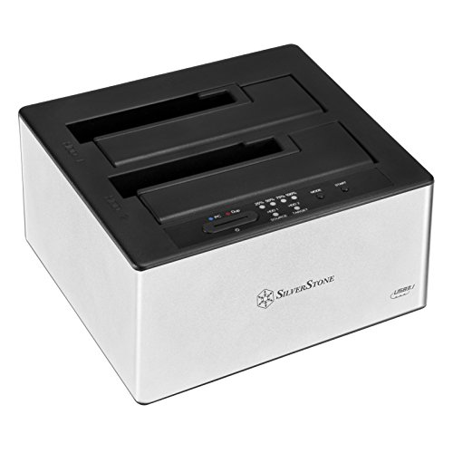 SilverStone SST-TS12C - Festplatten Docking Station, USB 3.1 Type C (Gen 2) für 2.5