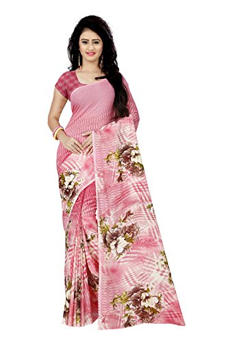 Kashvi sarees Women's Faux Georgette Saree With Blouse Piece (1259, Multicolor, Free...