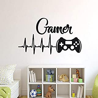 Game Controllers Wall Decal Boys Room Playstation Wall Sticker Video Game Design Wall Sticker Gaming Controller Vinyl Art 57x33cm