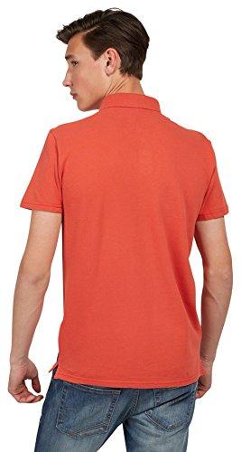 Tom Tailor Denim für Männer Polo schlichtes Polo-Shirt lux coral red