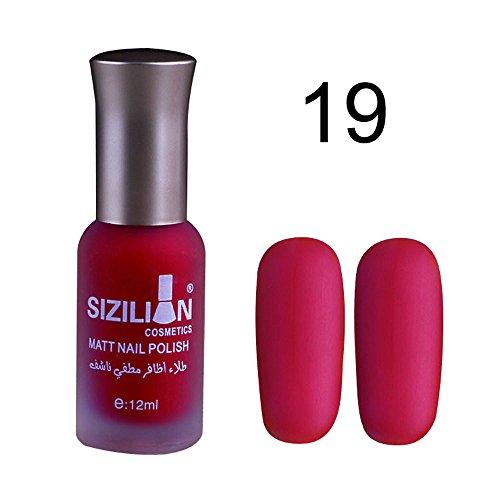 2019 Nuova Smalto opaco opaco 12ml Smalto opaco gel smalto per unghie duraturo a lunga durata flessibile e lucido By WUDUBE
