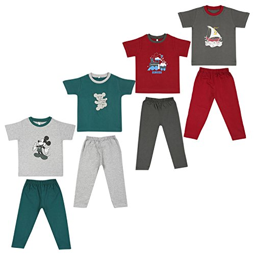 Cherry Blossom Unisex Kids T Shirts and Full Pant Trouser- 2 Years-3...