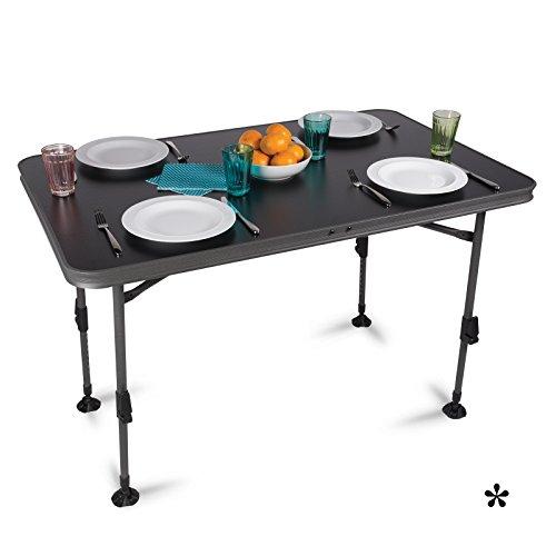 H-Collection Aluminium Klapptisch mit Wasserdichter Tischplatte 115x70cm • Campingtisch...
