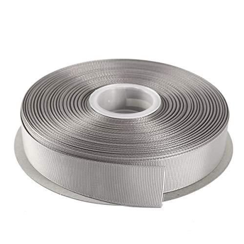 ITIsparkle 45 m Grosgrain Bändern in 25mm Breite (Silber) (Silber Wrapping Band)