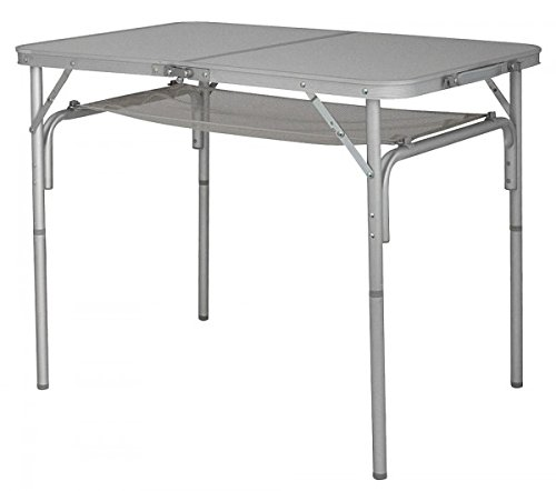 Table de cAMPING pliante en aluminium avec nETZABLAGE sTABIELO - 90 x 61 x 80/67/36 cm-pliable avec pieds réglables de transport - 5,3 kg-holly ® sTABIELO lot de 2 produits-innovations en allemagne-holly-sunshade ! disponible aussi longtemps des stocks disponibles !