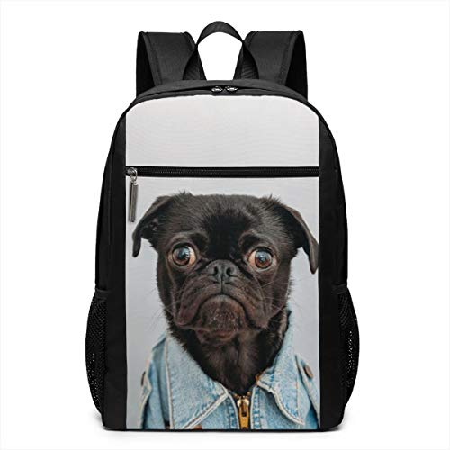 Funny Pug Dog (1) Travel Backpack School Bag Business Computer Backpacks Bag, Daypack for Travel Outdoor Camping -