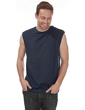 Plain maletero para hombre BAY sin mangas camiseta de fútbol para hombre Plain T-camiseta de manga corta de costura...