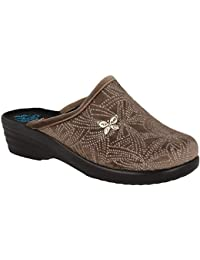 57052fe697d72 Fly Flot L8P44 ED Rovere Ciabatte Donna Made in Italy Zeppa 4 CM Anatomica  ANTISHOCK AUTOMODELLANTE