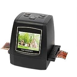 Scanner pour Film 35/135 mm Film B&W, Diapositives, Négatifs au Convertisseur d'Images JPEG avec écran LCD de 2,36 Pouces Support Aperçu Images, Lecture et Fonctions de Modification