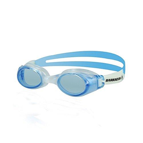 Barracuda Junior Swim Goggle Submerge JR - Slanted Lenses One-Piece Frame, Anti-Fog UV Protection Shatter-Resistance,Easy Adjusting Lightweight Comfortable for Children Teens Ages 12-18#12955 (Blue) -