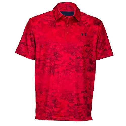 Camo Golf Armour Under (Under Armour PlayoffPoloshirt,Herren, Red/Maroon/Academy Bark Camo Print, xl)