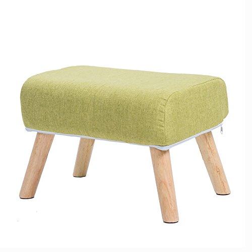 ZXQZ Repose-pieds créatif en bois massif / canapé de salon / tabouret de porte / petit tabouret simple (50 * 33 cm) repose-pieds de stockage ( Couleur : B-Green )