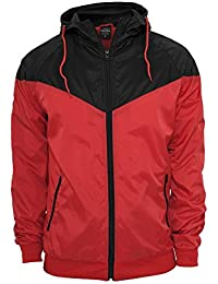Urban Classics TB148 Arrow Wind Runner Man Regular fit Red Black 3XL