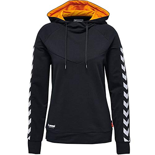 Hummel Damen Court Trophy Cotton Hoodie Woman Kapuzenpullover, Black, S