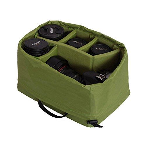 Wasserdicht Stoß Partition Gepolsterte Kamera-Taschen SLR DSLR Insert Schutztasche mit Top-Griff für DSLR Einstellung Objektiv oder Blitzlicht (Big) -