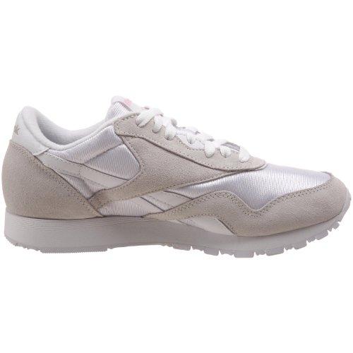 Reebok Damen Classic Nylon Sneakers Weiß (white/light Grey)