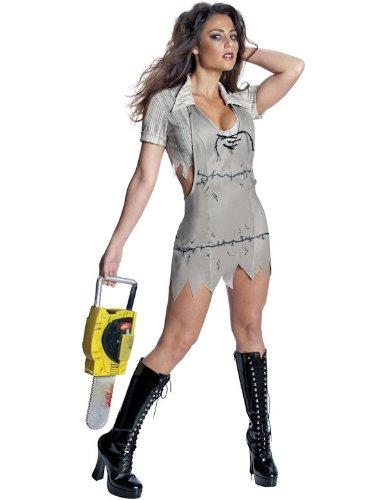 Texas Chainsaw Massacre - Miss Leatherface Horrorkostüm Damen, 3-teilig - ()