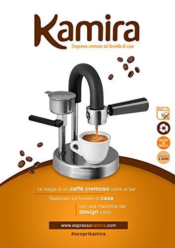 Kaffeemaschine Kamira, der cremige Espresso, auf den Herd gestellt, ohne Kapseln oder Pads... in Italien produziert! ( 1-2 TASSEN )