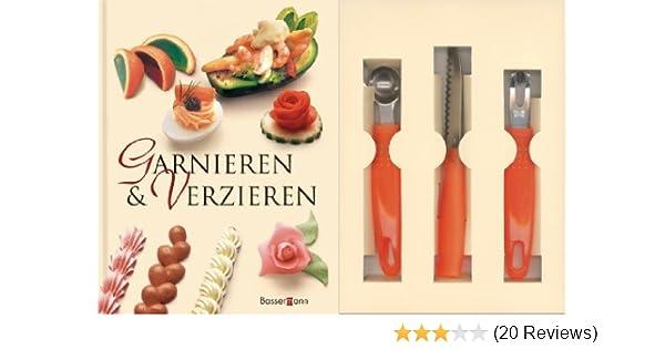 Garnieren Und Verzieren Set: Buch Mit Buntmesser, Kugelausstecher Und  Kanneliermesser: Amazon.de: Rudolf Biller: Bücher